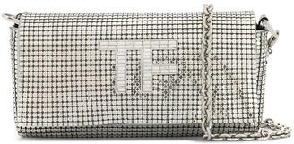 Tom Ford Crystal-Logo Chainmail Shoulder Bag