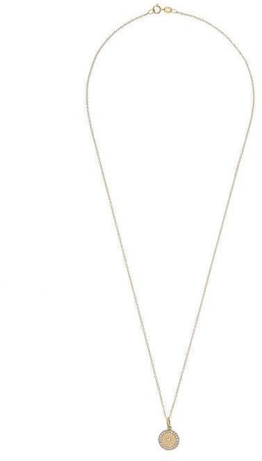 Andrea Fohrman Gold Full Moon Diamond Phases Necklace