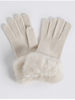 M&S Collection Faux Fur Cuff Gloves