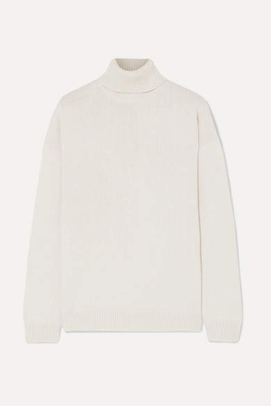 Brunello Cucinelli Sequin-embellished Cashmere And Silk-blend Turtleneck Sweater - Beige