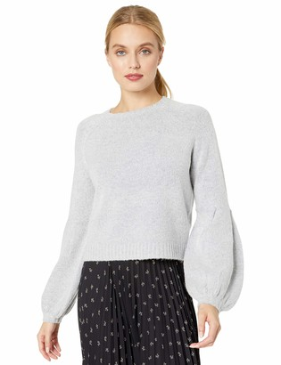 Finders Keepers findersKEEPERS Women's Carlotta Baloon Sleeve Soft Knit Fashion Sweater