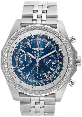 Breitling Blue Stainless Steel Bentley Motors Chronograph A25363 Men's Wristwatch 48.7 MM