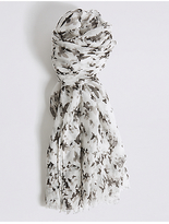 M&S Collection Conversational Print Scarf