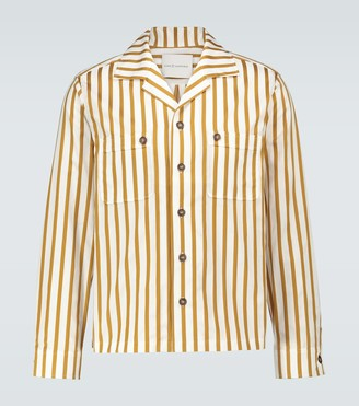King And Tuckfield Camp-collar long-sleeved shirt