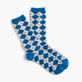 J.Crew Trouser socks in argyle print