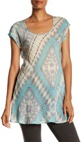 Johnny Was Cap Sleeve Printed Tunic