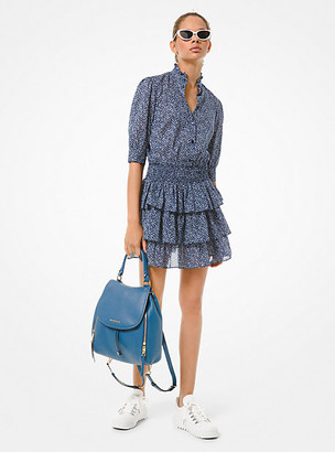 Michael Kors Floral Cotton Lawn Tiered Dress