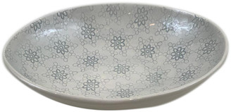 Wonki Ware - Large Etosha Bowl In Duck Egg Mixed Pattern - ceramic | duck egg