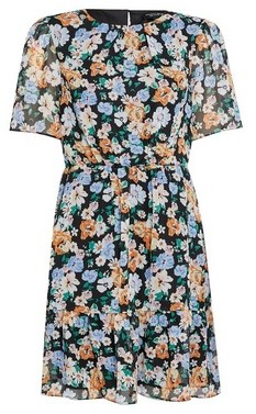 Dorothy Perkins Womens Multi Colour Lace Frill Detail Fit And Flare Dress