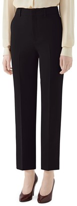 Gucci Cady Crepe Straight-Leg Ankle Wool & Silk Trousers