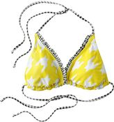 Candie's® reversible houndstooth triangle bikini top
