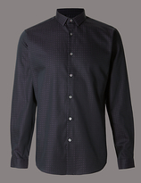 Autograph Tailored Fit Pure Cotton Long Sleeve Shirt