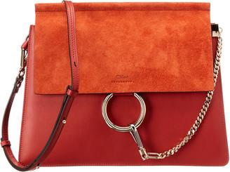 Chloé Faye Medium Leather & Suede Shoulder Bag
