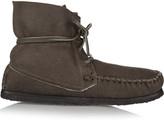 Etoile Isabel Marant Eve shearling-lined nubuck moccasin boots