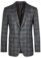 Pal Zileri Slate Grey Checked Wool Blend Blazer