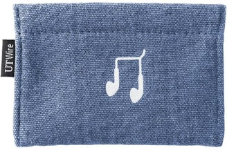 Container Store Slate Blue Earphone Accessory Pouch