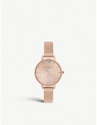 Olivia Burton OB16GD12 Celestial rose-gold plated stainless steel demi dial watch