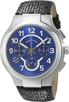 Philip Stein Teslar Men's 45-SCRBL-CWB Stainless Steel Watch with Black Leather Band