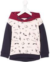 Armani Junior printed colour-block hoodie