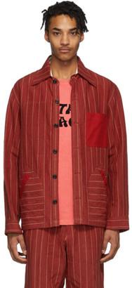 Nicholas Daley Red Yussef Shirt Jacket