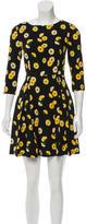 Suno Floral Print Silk Dress w/ Tags