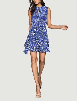 Reiss Elsie geometric-print crepe mini dress