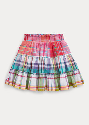 Ralph Lauren Tiered Cotton Madras Skirt
