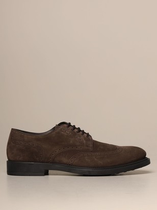 Tod's Derby In Suede With Brogue Motif