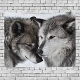 JSTEL Home Fashion Custom Love Wolf Tapestry Wall Decor Living Room, Throw Bedspread, Dorm Tapestries DIY