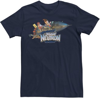 Licensed Character Men's Jimmy Neutron Carl & Jimmy Rocket Ride Tee