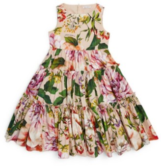 Dolce & Gabbana Kids Floral Ruffle Dress