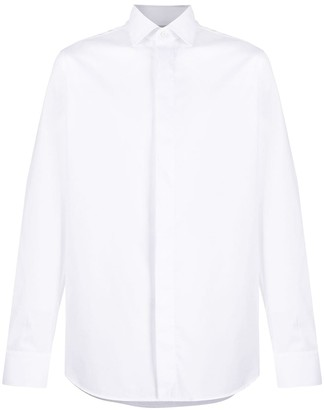 Ermenegildo Zegna Pointed Collar Cotton Shirt