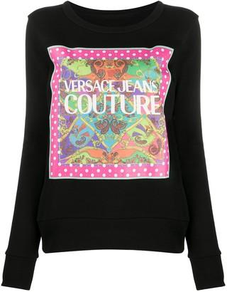 Versace Jeans Couture Logo Print Sweatshirt