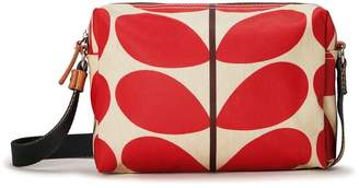 Orla Kiely Small Enough Crossbody Bag, Solid Stem Red