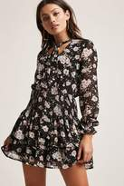 Forever 21 Floral Smocked Mini Dress