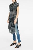 R 13 Plaid Tie-Waist Dress
