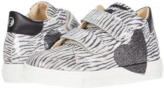 Naturino Falcotto Heart VL AW20 (Toddler) (Silver Zebra) Girl's Shoes