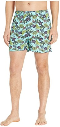 Tommy Bahama Cotton Modal Printed Knit Boxer (Floral Pineapple) Men's Underwear