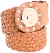 Michael Kors Woven Leather Waist Belt