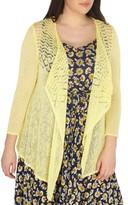 Evans Plus Size Women's Drape Front Cardigan