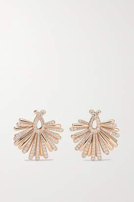 de Grisogono Raggiante 18-karat Rose Gold Diamond Earrings