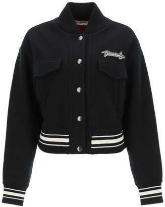 Givenchy Bomber Jacket With Logo Patch