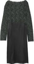 MM6 MAISON MARGIELA Flocked tulle and satin midi dress