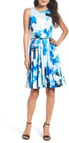 Maggy London Women's Pleated Fit & Flare Dress