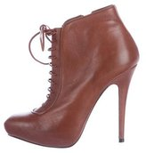 Barbara Bui Leather Lace-Up Booties