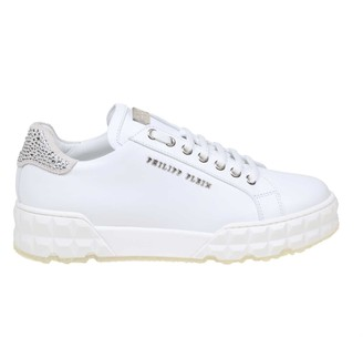 Philipp Plein Sneakers Lo-top Statement In White Color Leather