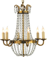 Visual Comfort & Co. Paris Flea Market Chandelier, Brass