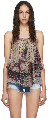 DSQUARED2 Multicolor Silk Ophelia Tank Top
