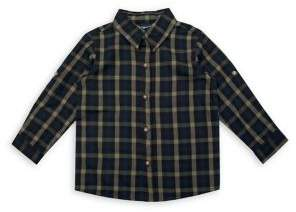 Nannette Little Boy's Plaid Cotton-Blend Collared Shirt
