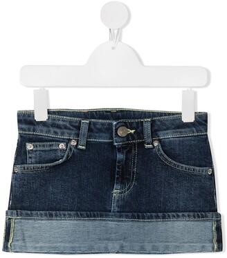 Dondup Kids Turn-Up Hem Denim Mini Skirt